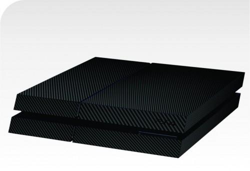 Skin Fibra de Carbono Preta PS4
